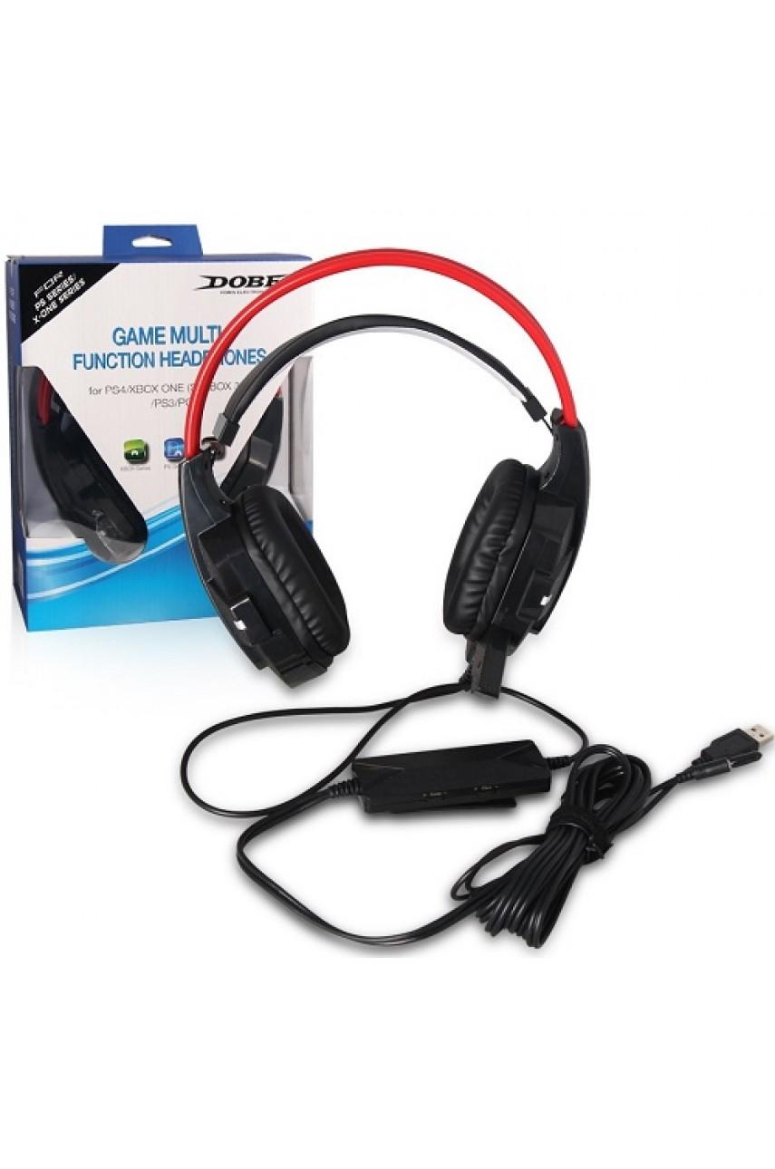 Универсальная гарнитура Game Multi-Function Headphones для PS3/PS4/Xbox360/XboxOne/PC (DOBE TP4-836)