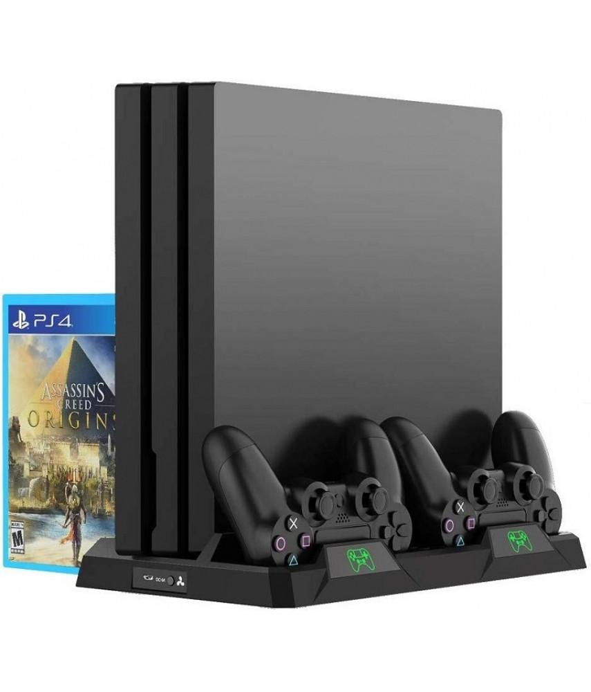 Зарядная станция с охлаждением для PS4/PS4 Slim/PS4 Pro (DOBE TP4-18119)