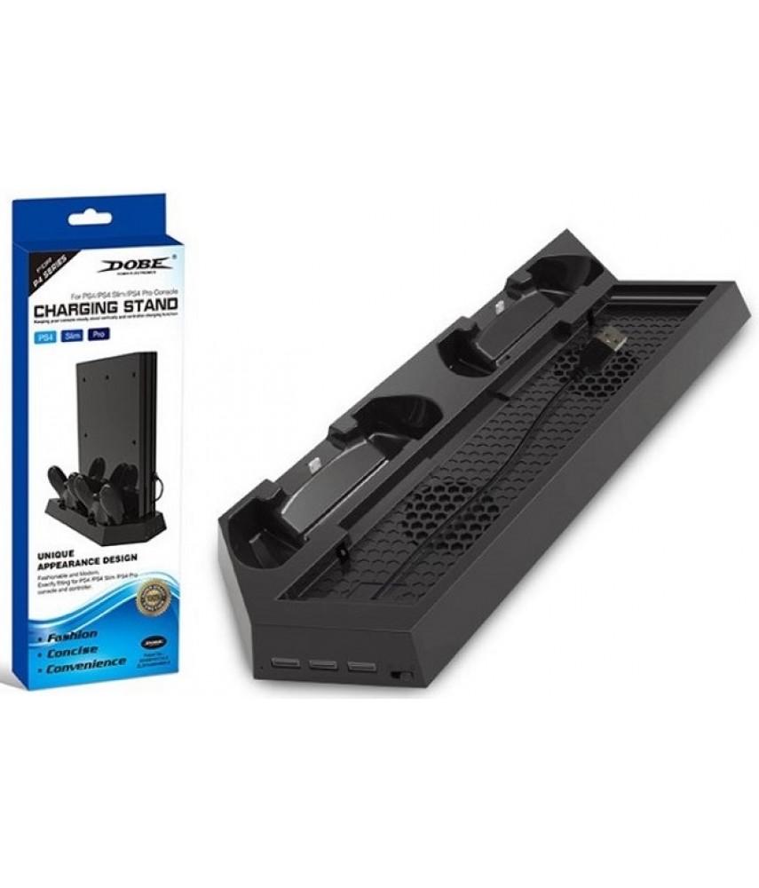 Подставка с охлаждением + зарядная станция для PS4/Slim/Pro (DOBE TP4-023B)