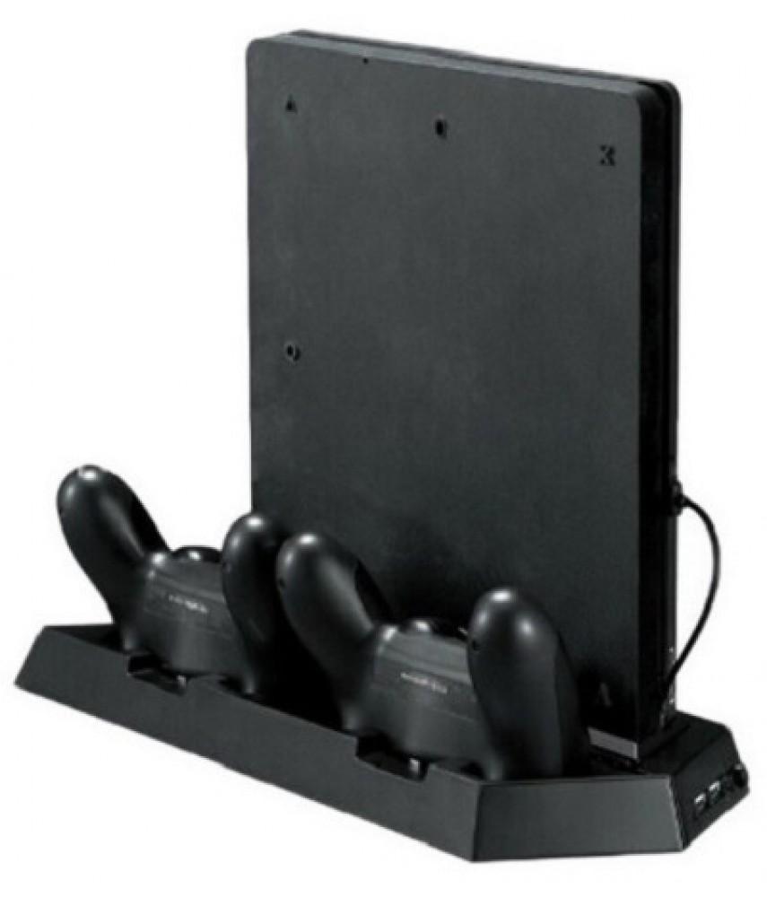 Вертикальная подставка с охлаждением для PS4 Slim (KJHPS4-03)