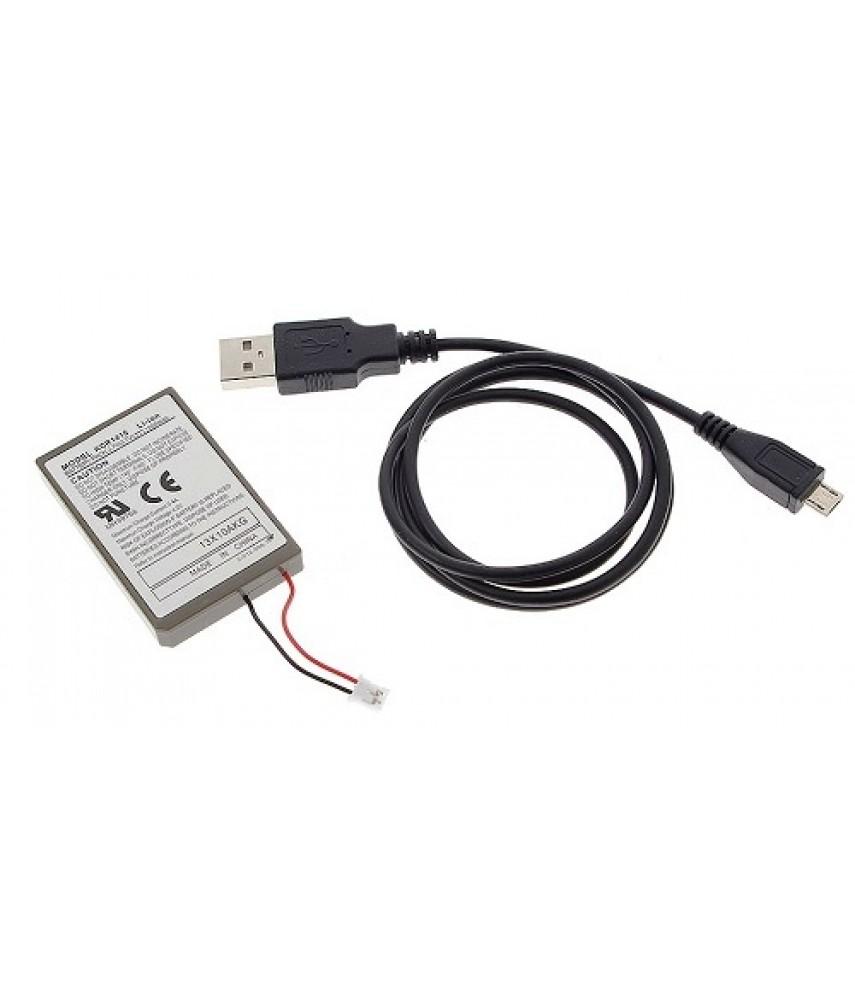 Аккумулятор для джойстика PS4 (2000 mAh) + зарядный кабель