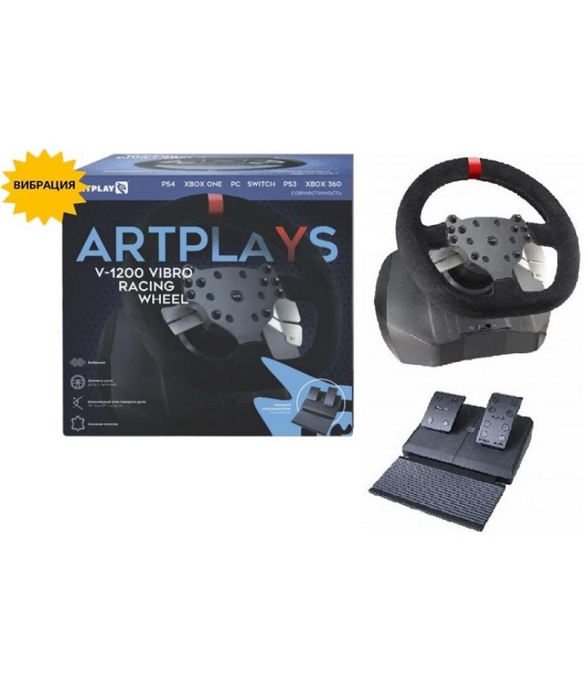 Руль Artplays V-1200 Vibro для PS3/PS4/Xbox360/XboxOne/PC/Nintendo Switch