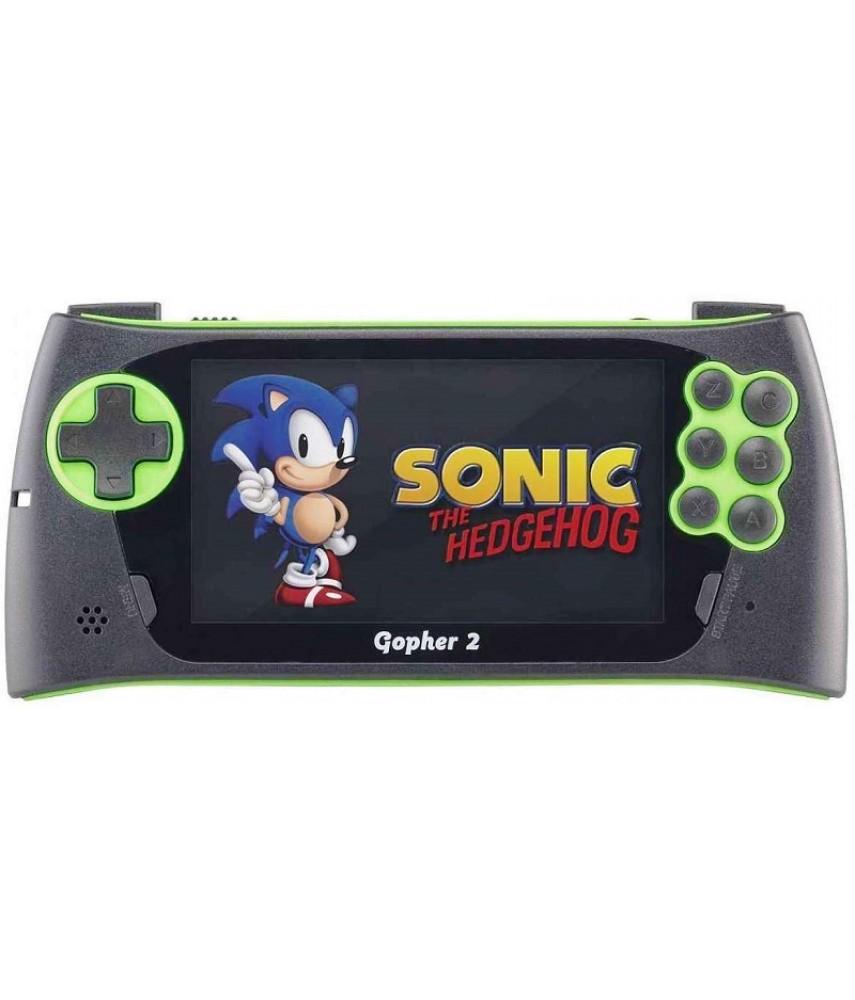 Sega Genesis Gopher 2 (зелёная) + 700 игр