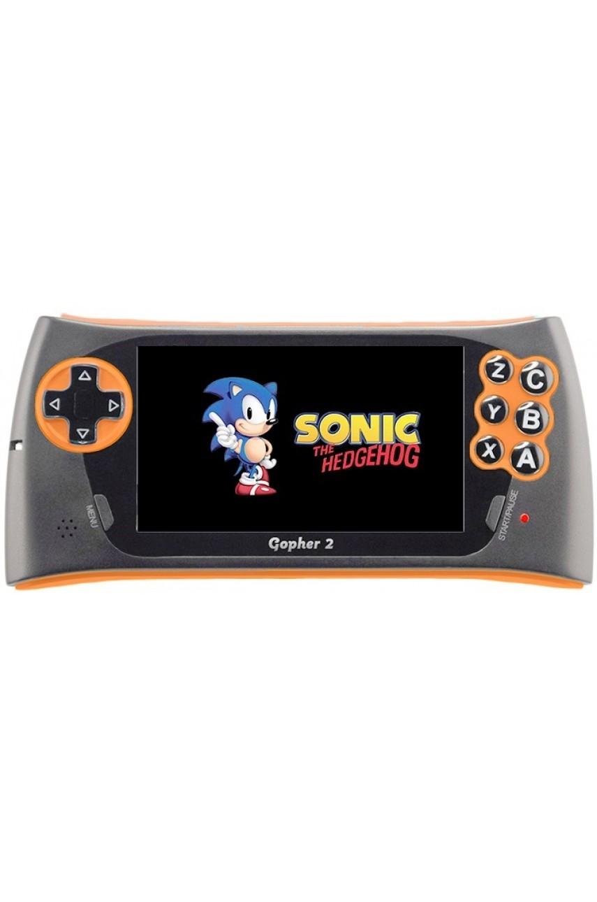 Sega Genesis Gopher 2 (Оранжевая) + 500 игр