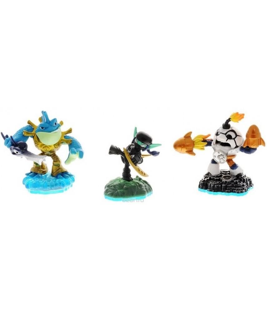 Набор №3 из 3-х фигурок (Countdown/Stealth Elf/ Riptide) Skylanders Imaginators