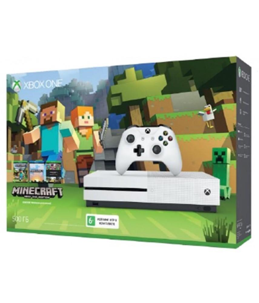 Xbox One S 500 ГБ + игра Minecraft