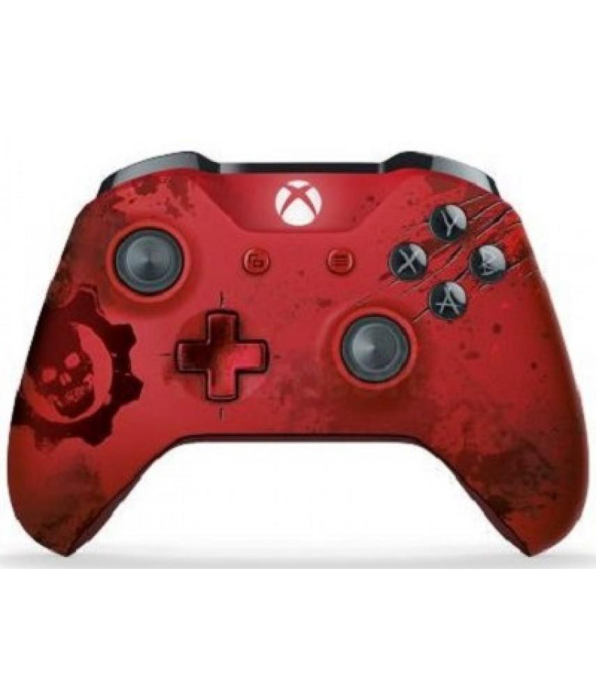 Беспроводной геймпад Gears of War 4 NEW Crimson Omen + DLC RED