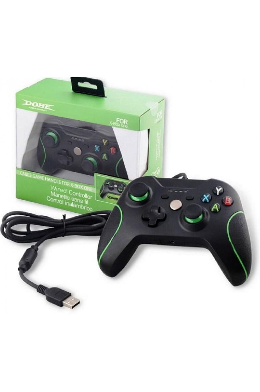 Джойстик проводной для Xbox One/PC чёрый (DOBE TYX-618)