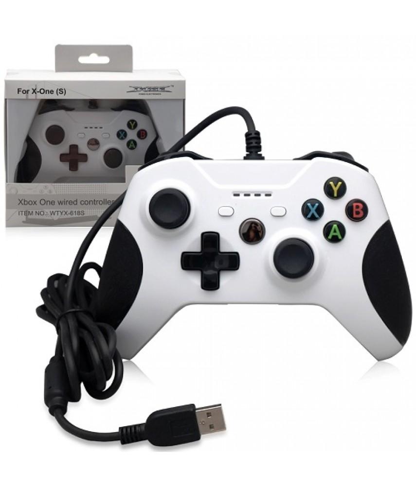 Джойстик проводной для Xbox One/PC белый (DOBE TYX-618S)
