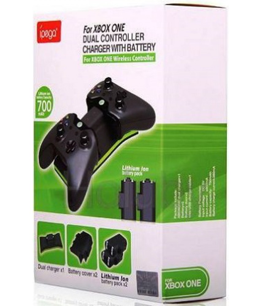 Зарядная станция с 2-я аккумуляторами для Xbox One (iPEGA PG-X001)